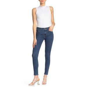 Levi's 721 High Waist Striped Skinny Jeans